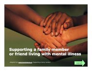Supporting a family member or friend living with mental illness