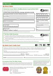 By Direct Debit By Debit Card/Credit Card - The Wine Society