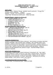 ANNO SCOLASTICO 2011– 2012 PROGRAMMA DI ... - Licei Manzoni