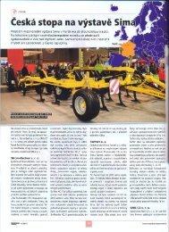 Článek o účasti českých firem v časopise Mechanizace zemědělství