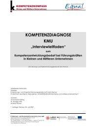 Interviewleitfaden zum Kompetenz- Entwicklungsbedarf