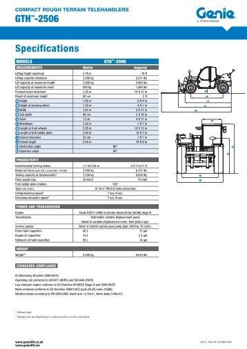 Genie GTH 2506 - Long Eaton Plant Hire Ltd
