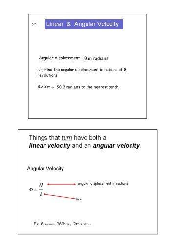 Linear And Angular Velocity2tebook