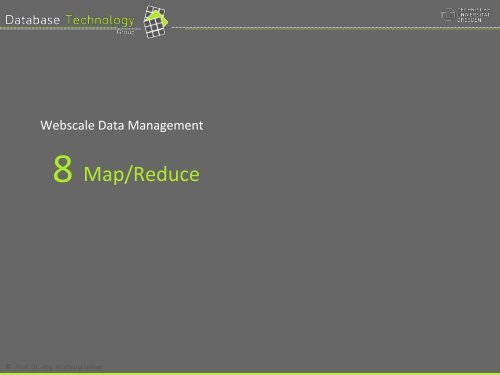 MapReduce-‐Ansatz - Datenbanken
