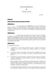 ESTATUTOS SOCIALES - Tubacex