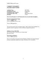 Exam paper 2004 - Cardiff University