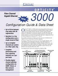 Finisar Opticity 3000