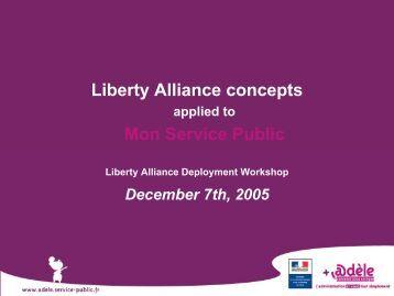 Liberty Alliance concepts Mon Service Public