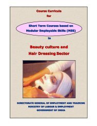 Beauty culture and Hair Dressing Sector - Directorate General of ...