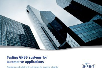 Testing GNSS Automotive and Telematic applications for system ...