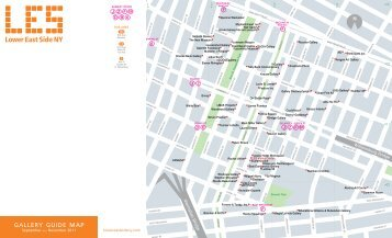 gallery guide map - Lower East Side Business Improvement District