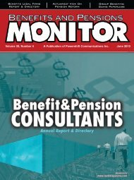 June - Benefits and Pensions Monitor