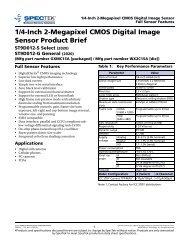 1/4-Inch 2-Megapixel CMOS Digital Image Sensor ... - SpecTek