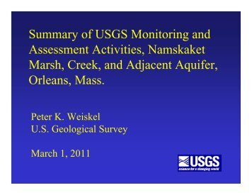 Summary of USGS Monitoring and Assessment ... - Town Of Orleans