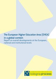 The European Higher Education Area (EHEA) in a global context