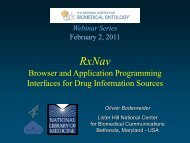 Browser and Application Programming Interfaces for Drug ...