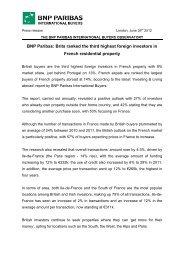 BNP Paribas International Buyers Press Release