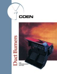 Coen Duct Burners for Cogeneration Systems - Inproheat