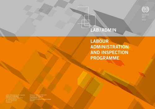 LAB / ADMIN LABour ADMINIstrAtIoN AND INspectIoN progrAMMe