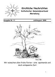 Kirchliche Nachrichten - Katholische Pfarrei St. Norbert Merseburg