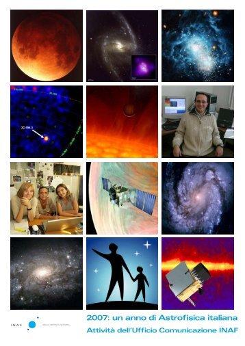2007: un anno di Astrofisica italiana - Home Page — Sito Web INAF