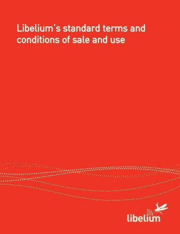 Libelium's standard terms and conditions of sale ... - Cooking Hacks