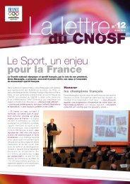La lettre n°12 - Comité National Olympique et Sportif Français