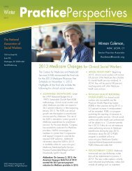 2013 Medicare Changes - National Association of Social Workers