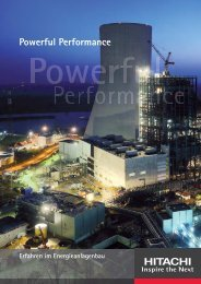 Powerful Performance - Hitachi Power Europe GmbH