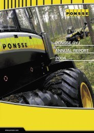 PONSSE OYJ ANNUAL REPORT 2004