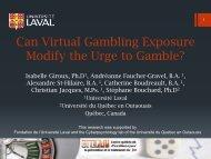Can Virtual Gambling Exposure Modify the Urge to Gamble