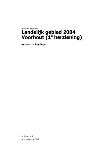 Landelijk gebied 2004 Voorhout (1 herziening) - Gemeente Teylingen