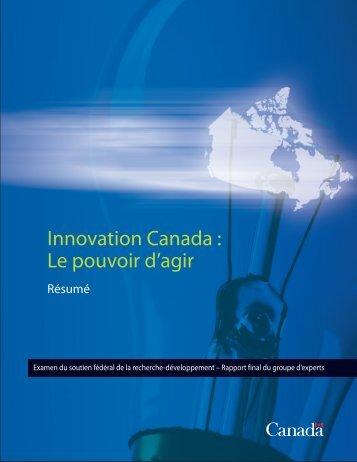 Innovation Canada :Le pouvoir d'agir - Résumé