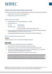Dobíjení (kreditování) frankovacího stroje - XERTEC as