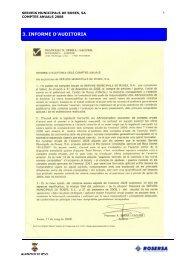 3. INFORME D'AUDITORIA - Ajuntament de Roses