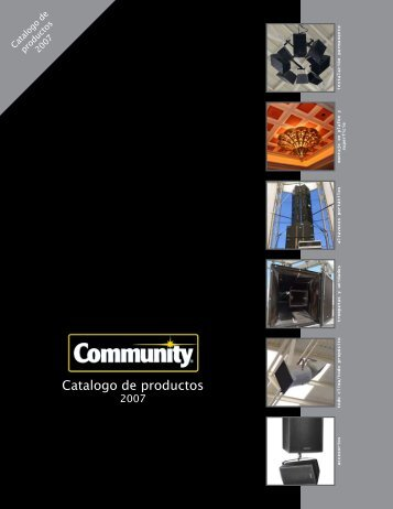 Catalogo de productos - Community Professional Loudspeakers