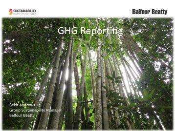 GHG Reporting BA