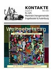 Kontakte 2006-1 - Martinskirchengemeinde