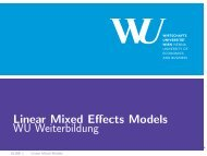 Linear Mixed Effects Models WU Weiterbildung - Institute for ...