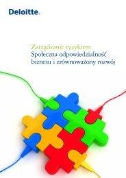 Zarządzanie ryzykiem Społeczna odpowiedzialność ... - Deloitte
