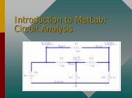 Introduction to MatLab: Circuit Analysis