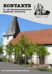 Schulenburg KON TA KTE - Martinskirchengemeinde