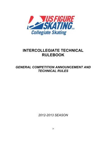 2012-2013 Intercollegiate Technical Rulebook - US Figure Skating