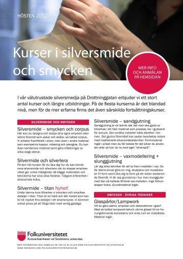 Kurser i silversmide (pdf) - Folkuniversitetet