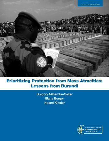 Prioritizing Protection from Mass Atrocities - Global Centre for the ...
