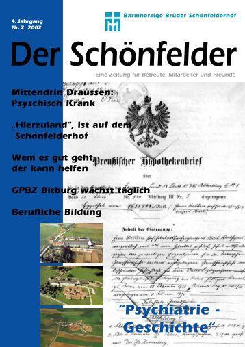 """""""Psychiatrie - Geschichte"""" - Barmherzige Brüder Schönfelderhof"""