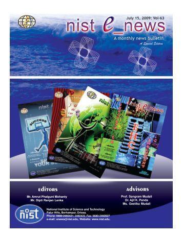 NIST e-NEWS(Vol 63, JUL 15, 2009) Special Edition