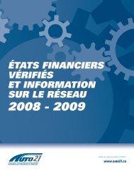 2008-2009 États Financiers - AUTO21