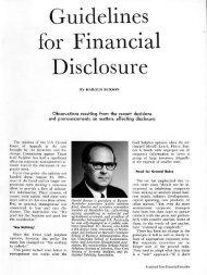 Guidelines for Financial Disclosure - Harold Burson