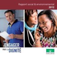 Rapport social & environnemental 2012 - Hospice général